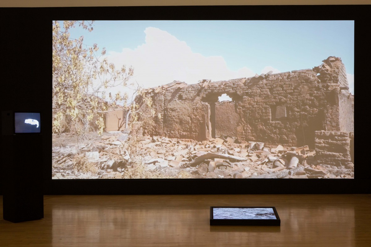 Luis B. Guzman, 'Lost Landscape', 2019. Video installation, Trading Zone, 2019. Image courtesy Talbot Rice Gallery, The University of Edinburgh.