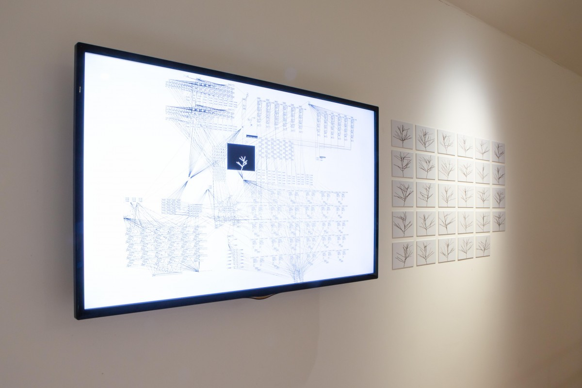 Cody Luckas, 'Processing', 2019. Video installation, Trading Zone, 2019. Image courtesy Talbot Rice Gallery, The University of Edinburgh
